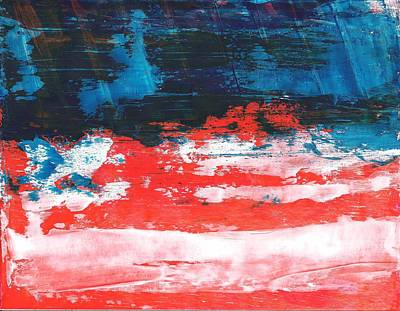 Red White Blue Scene Poster