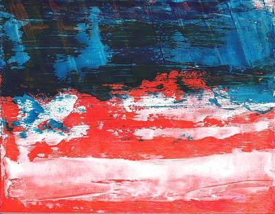 Red White Blue Scene Poster