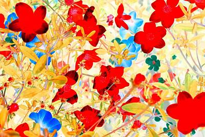 Poster featuring the photograph Red Wild Flowers by Marianne Dow