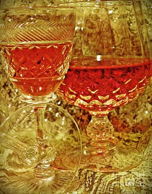 Red Wine 4 Poster by Sarah Loft