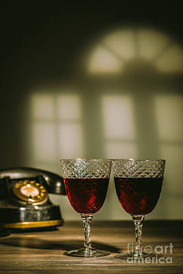 Red Wine Poster by Amanda Elwell