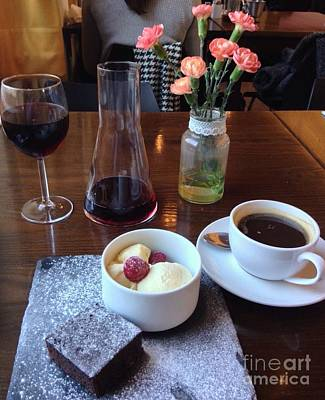 Red Wine Coffee And Ice Cream Poster