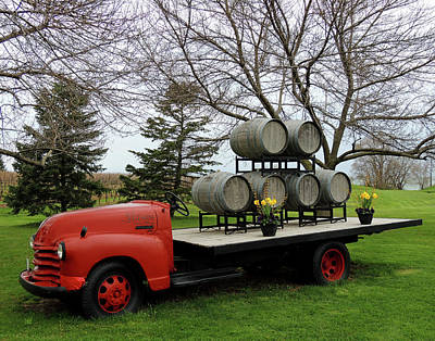Red Wine Truck Poster