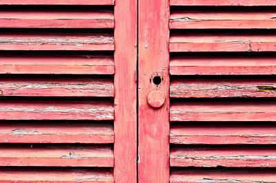 Red Wooden Door Poster