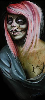Red Zombie Poster by Matt Truiano