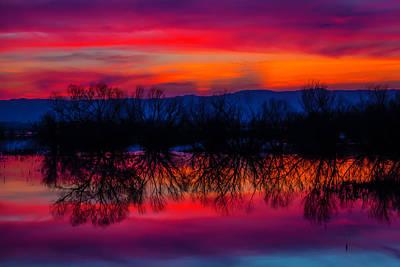 Reddening Sunset Poster by Garry Gay