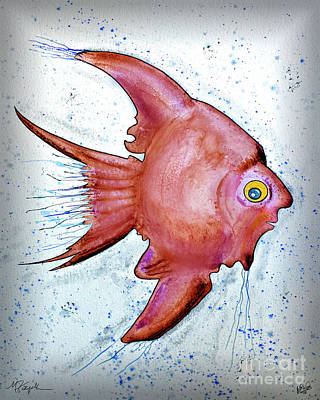 Poster featuring the mixed media Redfish by Walt Foegelle
