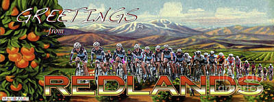 Redlands Greetings Poster by Linda Weinstock