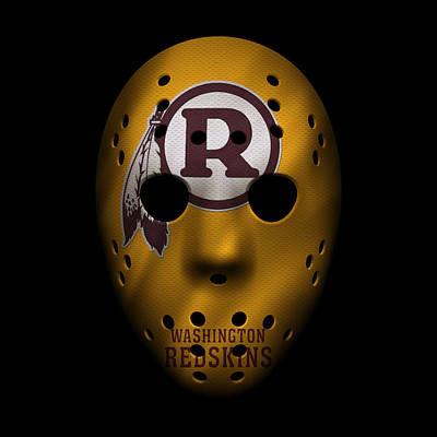 Redskins War Mask 3 Poster