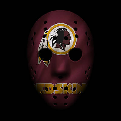 Redskins War Mask Poster