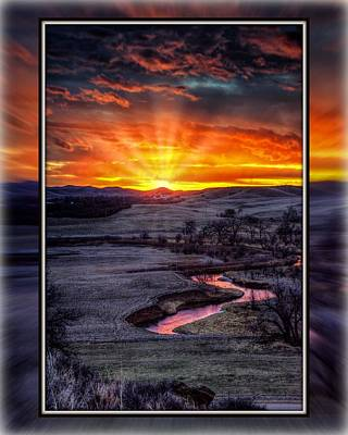 Redwater River Sunrise Poster