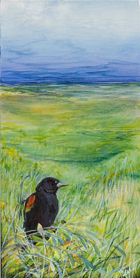 Redwing Blackbird Poster by Michele Hollister - for Nancy Asbell