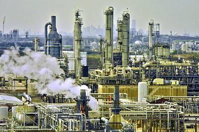 Refineries In Houston Texas Poster