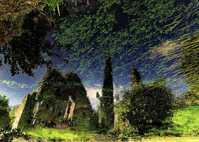 Reflected Ruins Poster by Fulvio Pellegrini