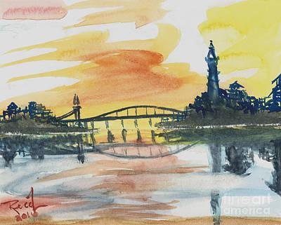 Reflecting Bridge Poster