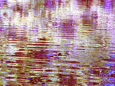 Reflecting Purple Water Poster