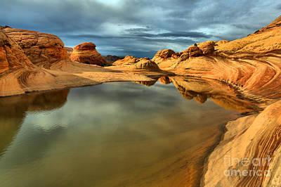 Reflecting The Desert Skies Poster