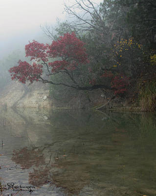 Reflecting Upon Fall Poster by Karen Musick