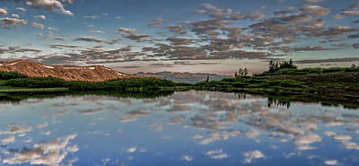 Poster featuring the photograph Reflection In A Mountain Pond by Don Schwartz