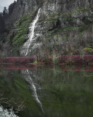 Reflection Of A Waterfall Poster