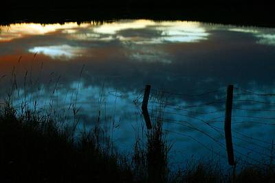 Reflection Of The Sky In A Pond Poster by Mario Brenes Simon