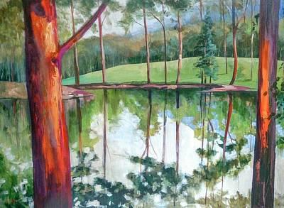Reflection Pond Poster by Kathy  Karas