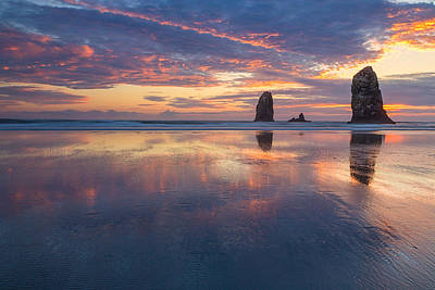Reflections At Cannon Beach Poster