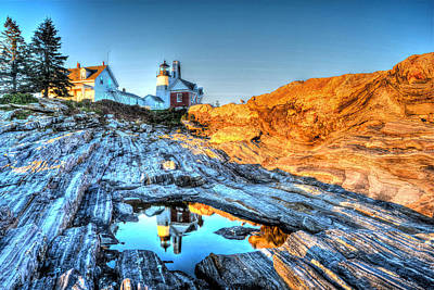 Reflections At Pemaquid Point Poster
