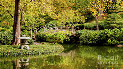 Poster featuring the photograph Reflections In The Japanese Garden by Iris Greenwell