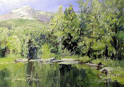 Poster featuring the painting Reflections by Laurie Rohner