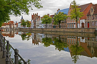 Reflections Of Brugge Poster