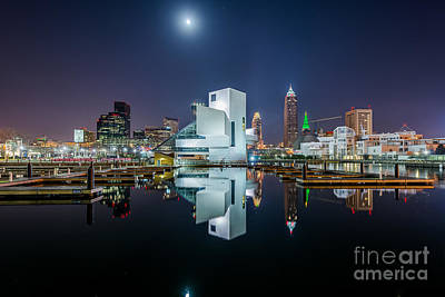 Reflections Of Cleveland  Poster by Frank Cramer