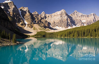 Poster featuring the photograph Reflections Of Moraine Lake by Andrew Serff