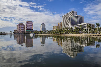 Reflections Of West Palm Beach Poster by Debra and Dave Vanderlaan