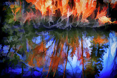Reflections On A Small Pond Poster by Mick Anderson