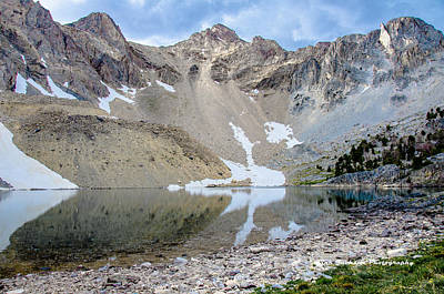 Reflections On An Alpine Lake Poster