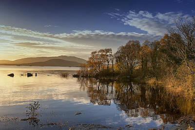 Reflections On Lough Cullin Poster by Frank Fullard