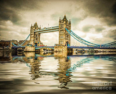 Reflections On Tower Bridge Poster