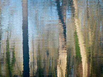 Poster featuring the photograph Reflet Rhodanien Pastel 2 by Marc Philippe Joly