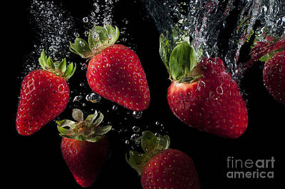 Refreshing Fruit Strawberries Poster by Marco Schaller