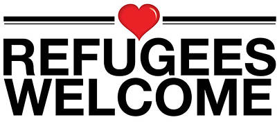 Refugees Wecome Poster by Greg Slocum