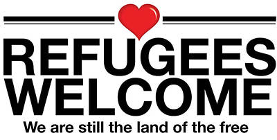 Refugees Welcome Poster by Greg Slocum