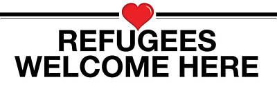 Refugees Welcome Here Poster by Greg Slocum