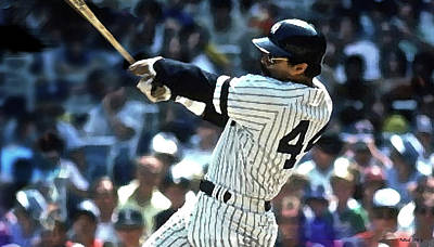 Reggie Jackson, Mr October, Yankee Uniform, Number 44 Poster