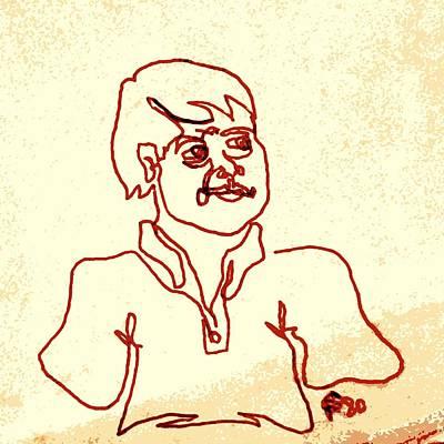 Regular Guy In Polo Shirt Poster by Sheri Buchheit