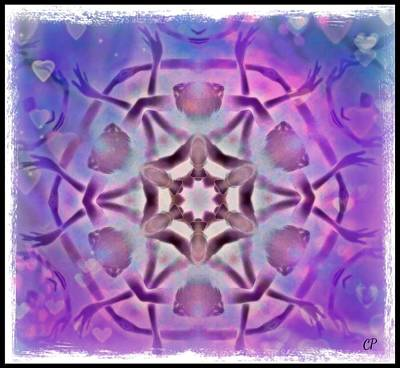 Reiki Infused Healing Hands Mandala Poster