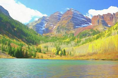 The Maroon Bells Reimagined 1 Poster by Eric Glaser