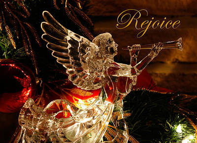 Rejoice Crystal Angel Poster by Denise Beverly