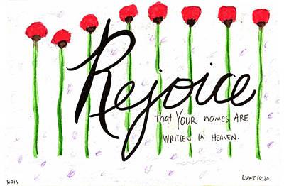 Rejoice Poster by Kristen Williams