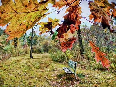 Poster featuring the photograph Relax And Watch The Leaves Turn by Kerri Farley
